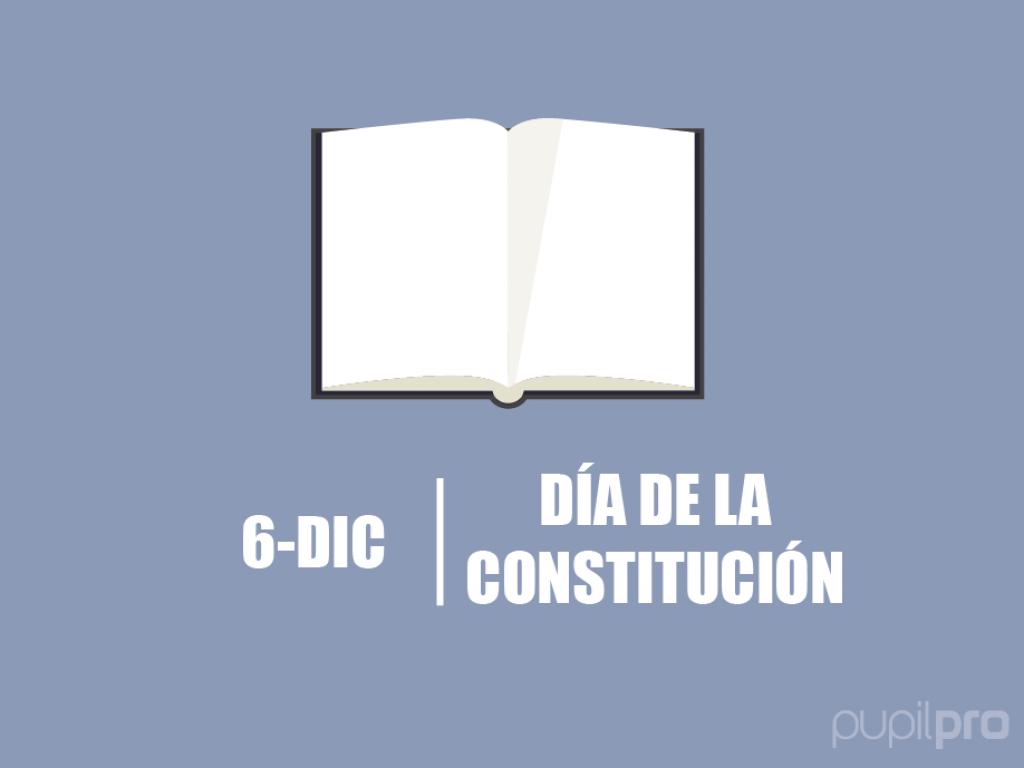 ¡Llega el día de a Constitución!