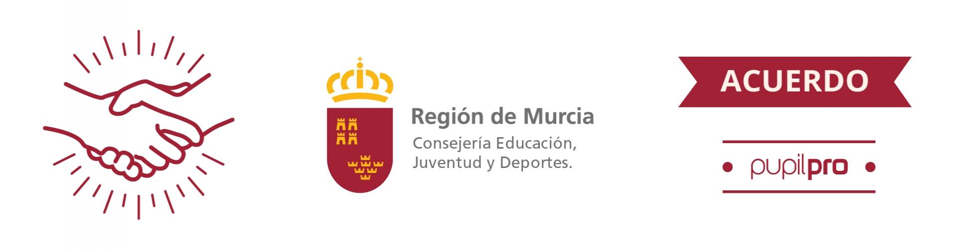 Acuerdo de Pupilpro con la Consejería de Educación de la Región de Murcia