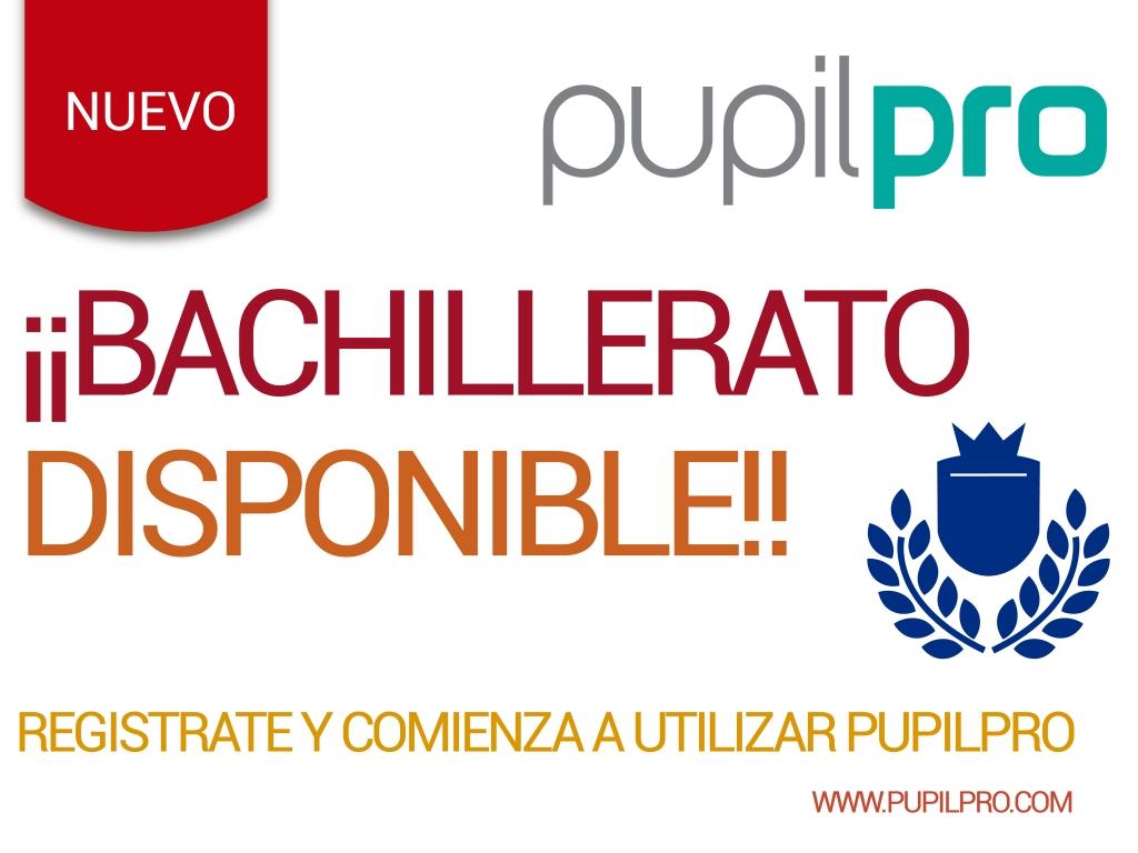 Curriculum de Bachillerato habilitado en Pupilpro