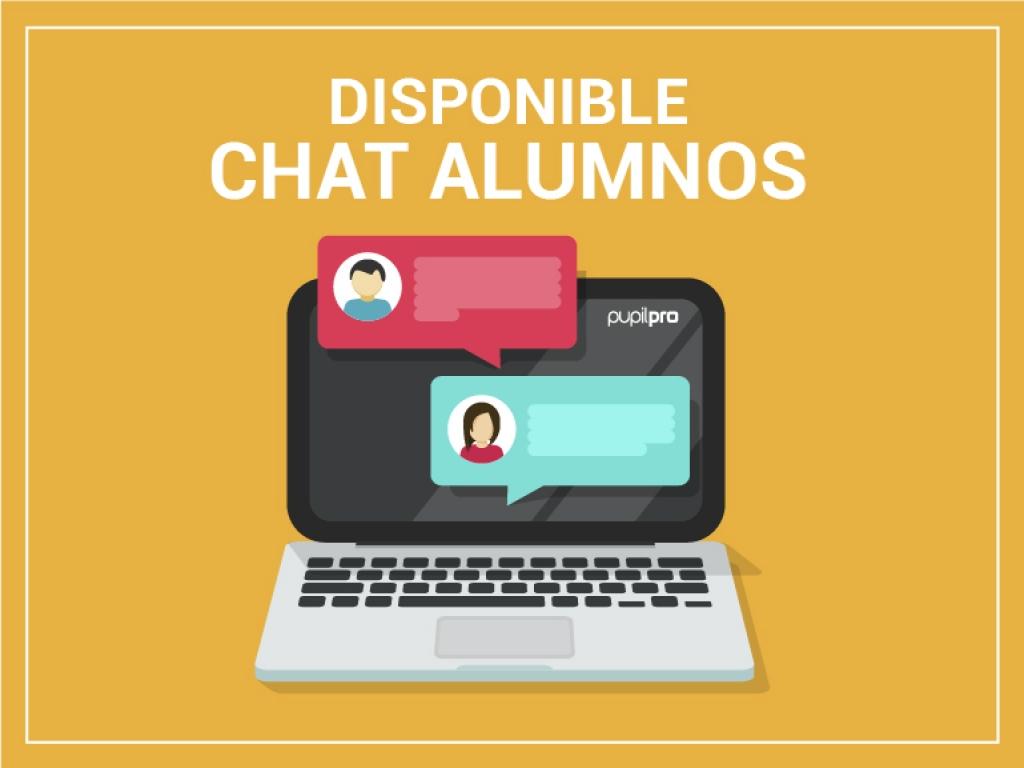 Disponible CHAT para hablar con los alumnos