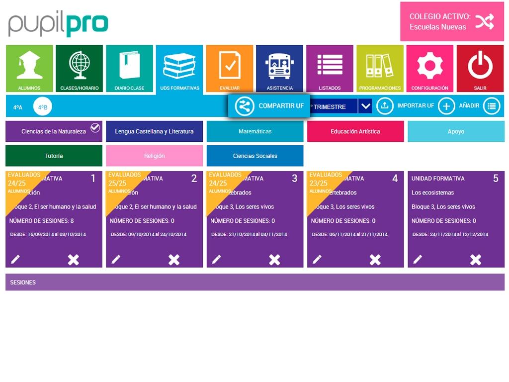 ACTUALIZACIÓN: generar programaciones docentes y compartir unidades formativas