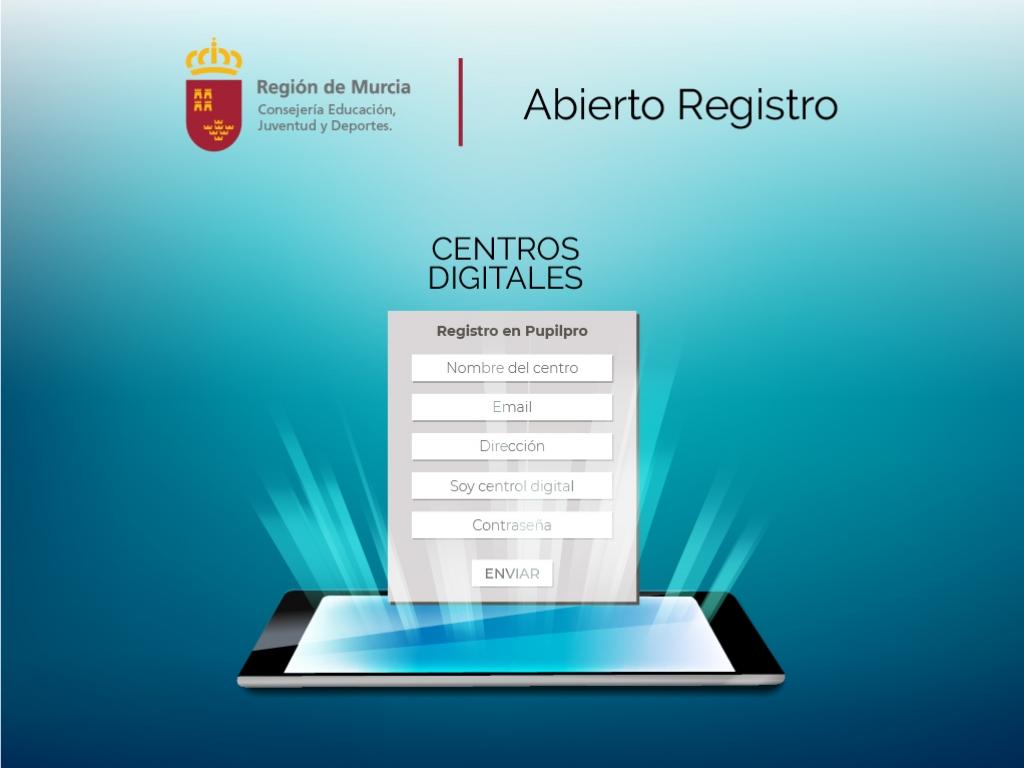Habilitado formulario de registro para Centros Digitales